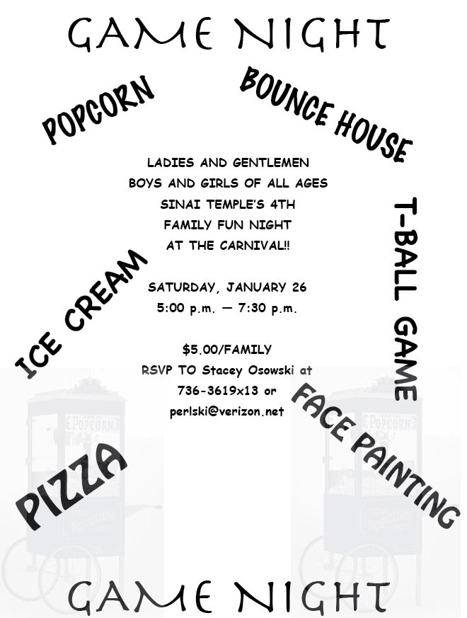 Game Night Flyer 2008
